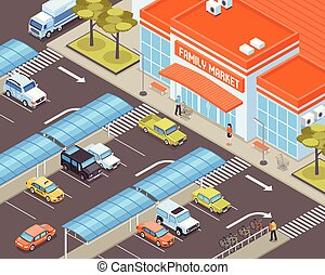 Isometric Transport Illustration