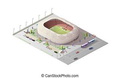 isometric, tribunes, stadion, arena, sport