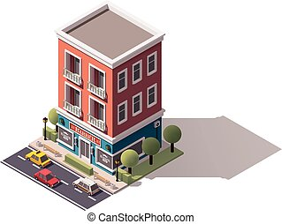 isometric, vector, barbershop