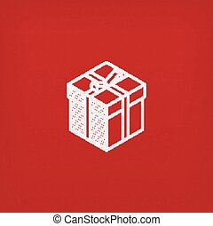 isometric vector gift box icon