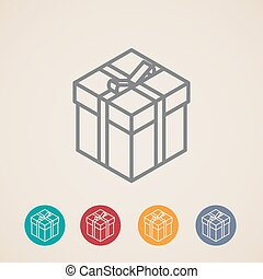isometric vector gift box icons