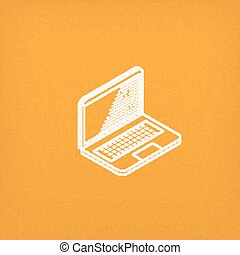 isometric vector icon of laptop