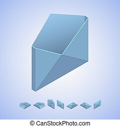 Isometric vector icon of mail in isometric proection