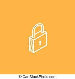 isometric vector lock icon