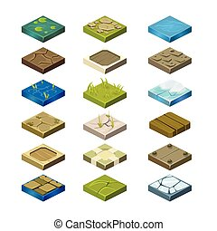 Isometric Vector Platforms Set - Isometric Vector Platforms...