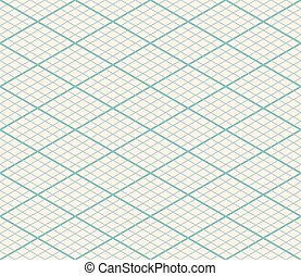 Isometric Vector Seamless Grid Background - Thirty Degree Angle