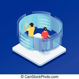 Isometric Virtual Screen Concept