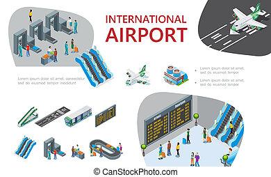 isometric, zenemű, repülőtér