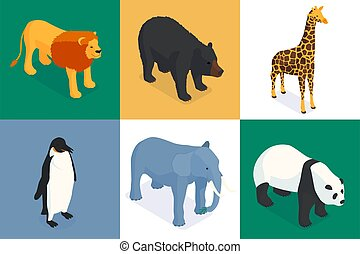 Isometric Zoo Design Concept