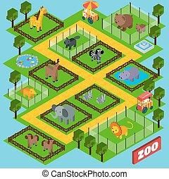 Isometric Zoo Park