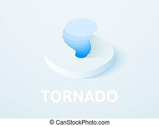 isometrico, tornado, colore isolato, fondo, icona