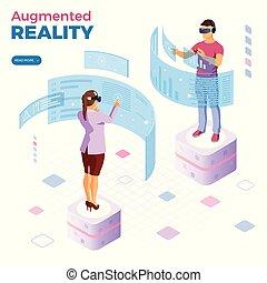 isometrisch, augmented, virtuelle wirklichkeit