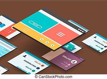 isometrisch, begriff, app