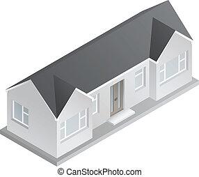 Verkauft Bungalow Clip Artvon Darrenwh1 554 Isometrisch 3d