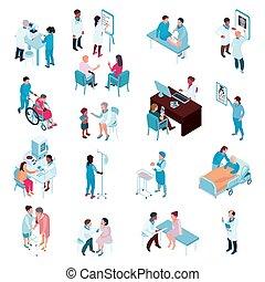 isometrisch, satz, doktoren, krankenschwestern