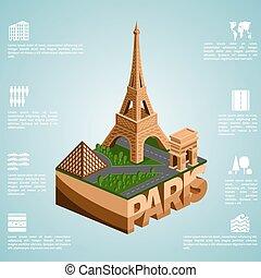 isometry, ciudad, parís