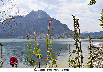 Egirdir lake and mountain, Isparta province, Turkey