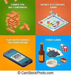 ispettori, concetto, altro, giochi, asse, games., scacchi