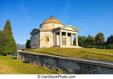 Ispra Mausoleo Castelbarco, Lago Maggiore in Italy