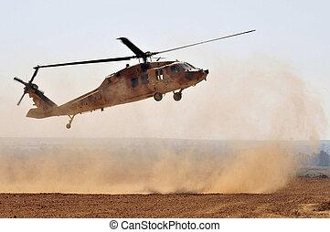 israélien, sikorsky, faucon uh-60 noir, hélicoptère