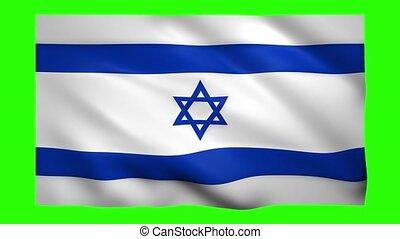 israël, écran, drapeau, clã©, chroma, vert