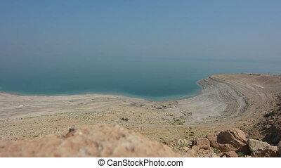 israël, aérien, mer morte, paysage, vue