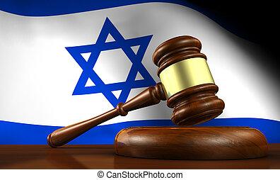 israël, concept, système, droit & loi, légal
