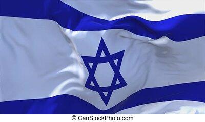 israël, continu, seamless, onduler, arrière-plan., drapeau, 184., vent, boucle