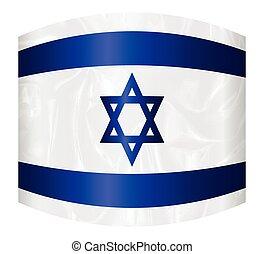 israël, déformé, étoile, drapeau, david