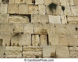 israël, jérusalem, mur, gémir, occidental