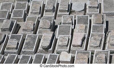 israël, juif, monter, cimetière, olives, jeruslem
