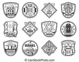 israël, juif, religion, symboles, culture, tradition