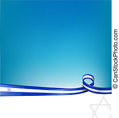 israël, lint, vlag, achtergrond