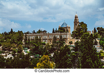 israël, monter, -, jérusalem, temple, vue