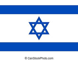 israël, officiel, drapeau