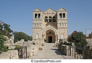 israël, opstellen, tabor, basiliek, transfiguration, galilee