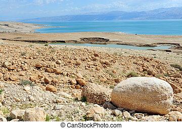 israël, reizen, -, dood, foto's, zee