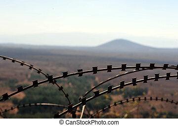 israël, reizen, -, hoogten, foto's, golan