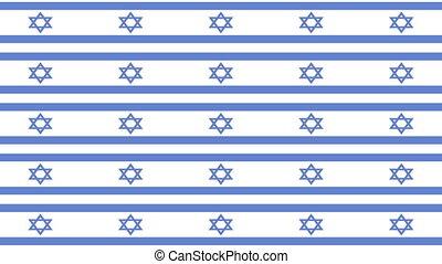 israël, zoom, drapeau, infini