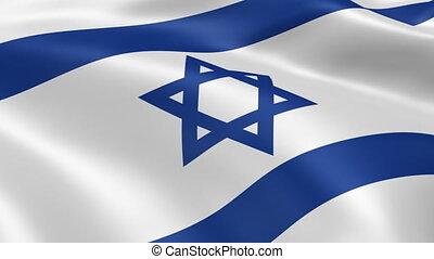 israëlische vlag, wind