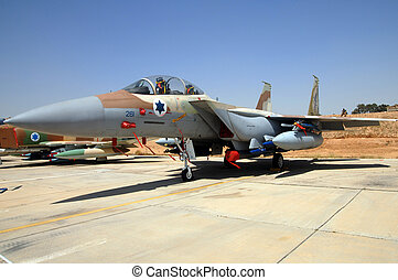 Israel Air Force - Air Show - A F-15 E Srike Eagle is part...