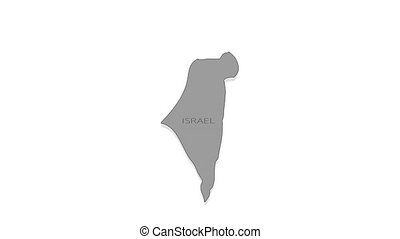 Israel animated map with alpha channel. - Stylish and modern...