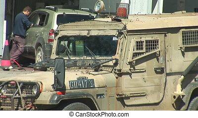 Israel army car