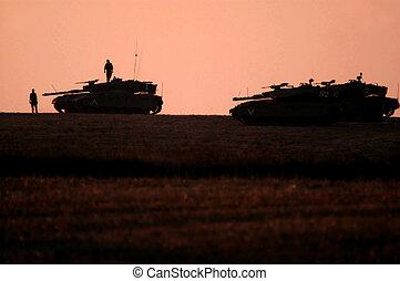 Israel Army Tanks - NACHAL OZ,ISR - July 01:Merkava Tank on...