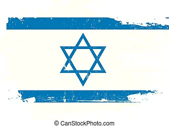 israel, arranhado, bandeira