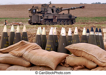 israel, artilharia, -, corpo