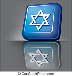 Israel button - vector image volumetric computer button with...