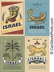 Israel cornucopia, lion, David Star and date palm - Welcome...