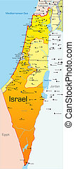 Israel country - Abstract vector color map of Israel country