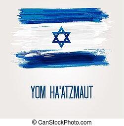israel, día, plano de fondo, independencia
